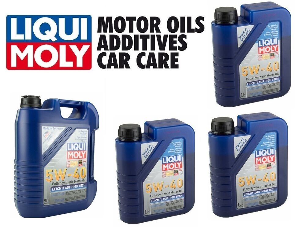 8 liters liqui moly leichtlauf high tech 5w40 synthetic. Black Bedroom Furniture Sets. Home Design Ideas