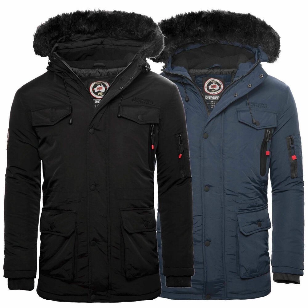 geographical norway alos herren winter jacke parka. Black Bedroom Furniture Sets. Home Design Ideas