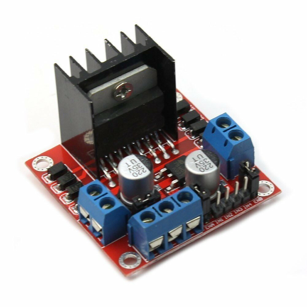 2x l298n dc stepper motor driver module dual h bridge for Controlling a stepper motor