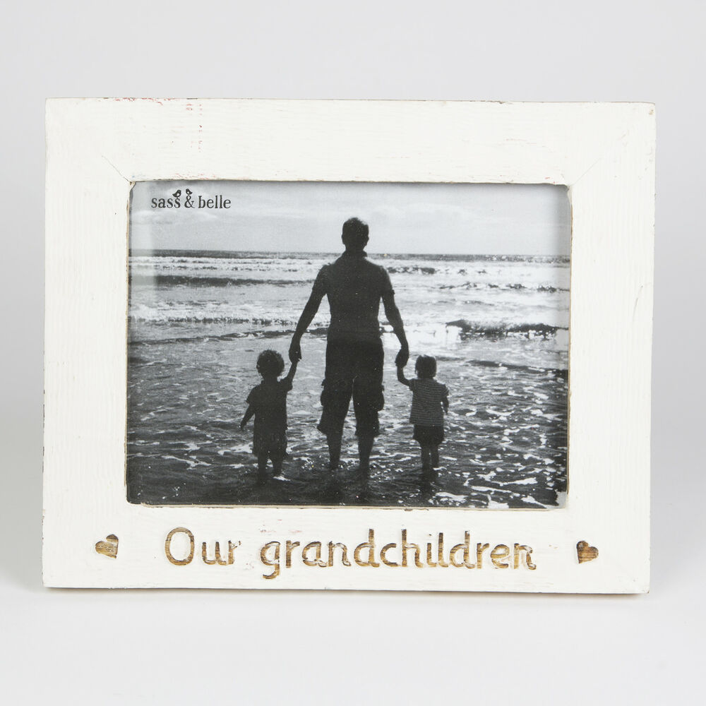 Shabby Chic White \'Our Grandchildren\' Photo Frame Single Country ...