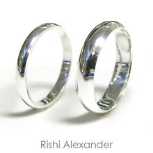 925 Sterling Silver High Polished Baby and Children Rings