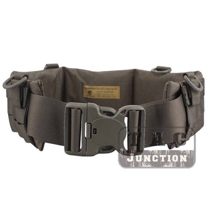 Details about Tactical MOLLE   P.A.L.S Style Padded Patrol Battle Belt  Heavy Duty Belt w Loop 813fffb120c