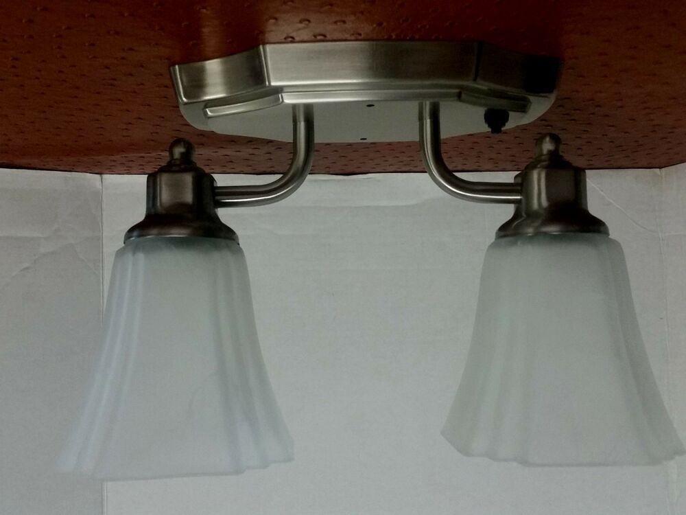 OPTRONICS 12 Volt RV Double Light Ceiling Mount with push ...