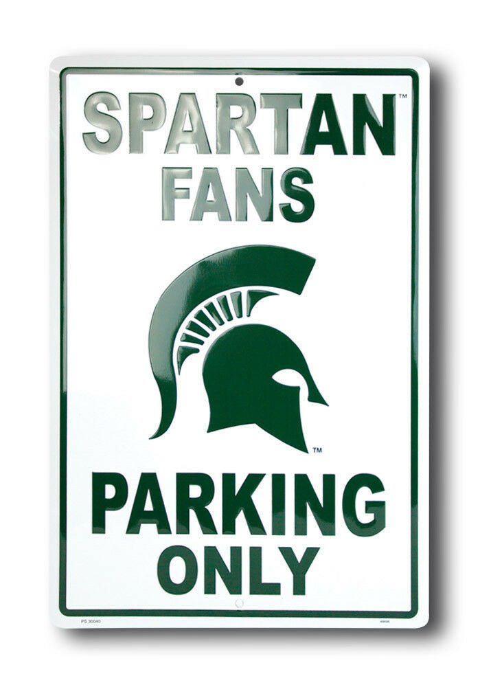 Michigan Man Cave Signs : Michigan state fans parking only metal sign man cave