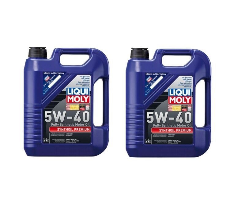 10 Liters Premium Lubro Moly 5w 40 Synthoil Full Synthetic