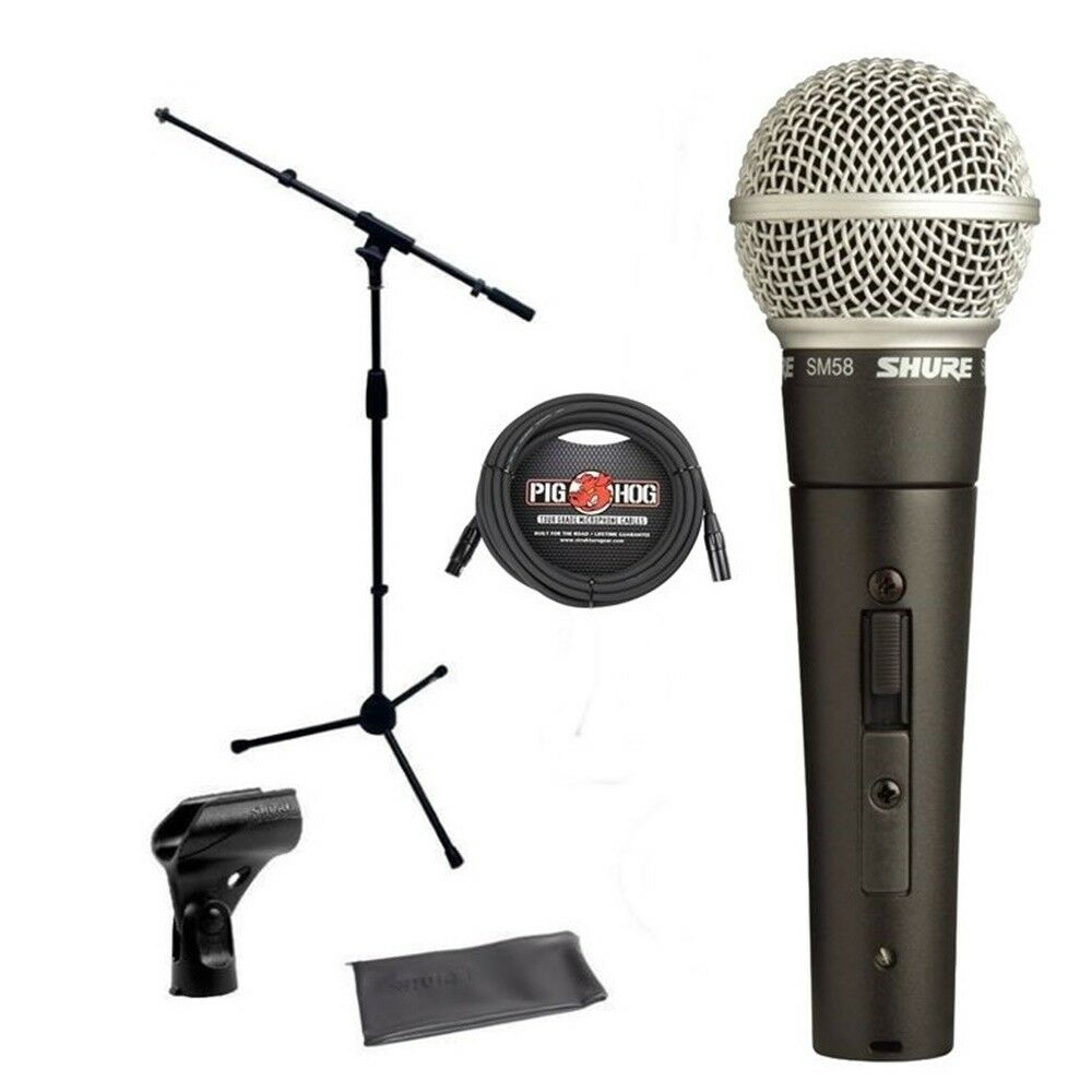 Shure Mic Cables : Shure sm s on off switch vocal microphone bundle mic