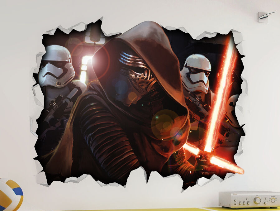 Kylo Ren Force Awakens Star Wars Wall Vinyl Poster Sticker