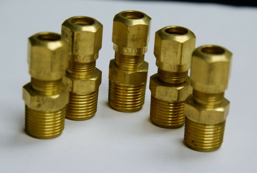 Brass fittings dot air brake male connector qty tube od