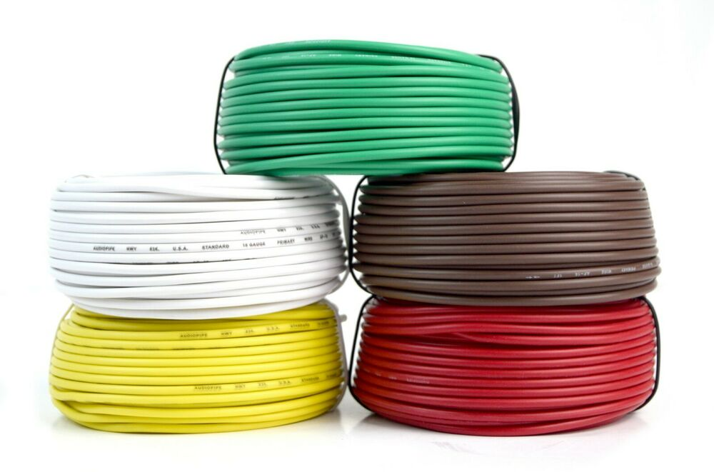 5 Way Trailer Wire Light Cable For Harness Led 50ft Each Roll 18 Thread Install Wiring Gauge Colors 719906874041 Ebay
