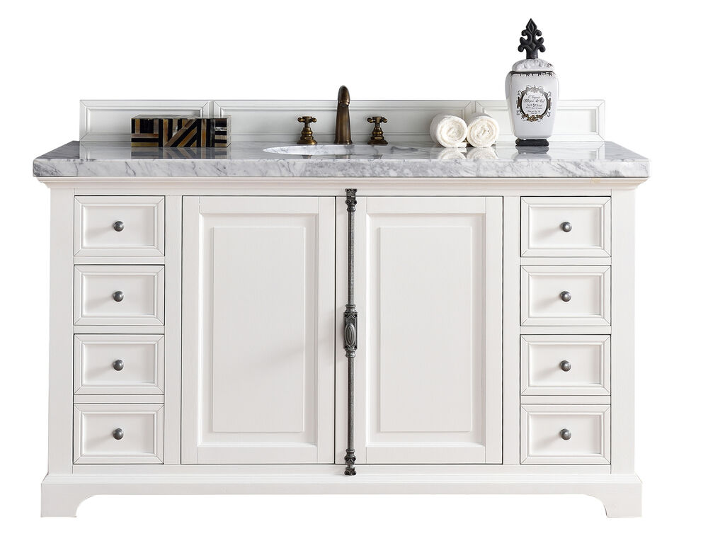 60 james martin providence all wood cottage white single sink bathroom vanity ebay 60 in bathroom vanities with single sink