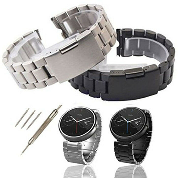 Stainless Steel Watch Band Strap Link For 1st Gen Motorola ...