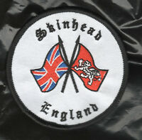 SKINHEAD PATCH BADGE , ENGLAND NOT SKA Oi ISD  . ..,, ,,,4