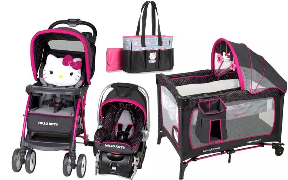 Baby Strollers And Car Seats: Baby Trend Hello Kitty Stroller Car Seat Diaper Bag
