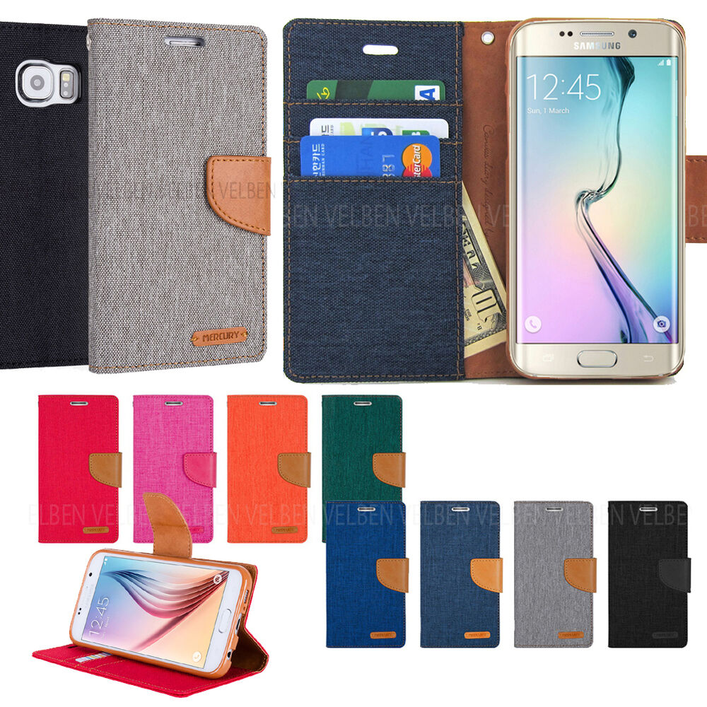 Goospery Denim Slim Flip Leather Wallet Case Cover For Galaxy S9 Samsung S6 Canvas Diary Navy Iphone Xs Ebay