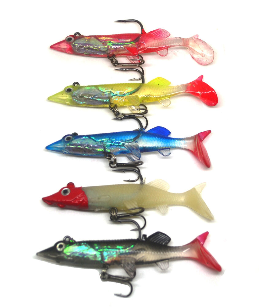 5pcs soft fishing lure bait swimbait life like pike ebay for Fishing lures ebay