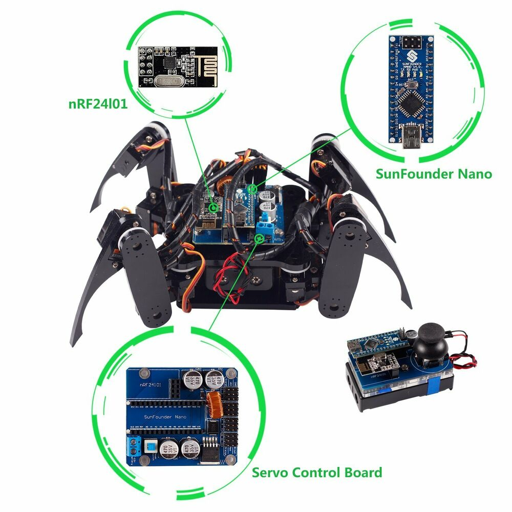 Sunfounder wireless telecontrol crawling quadruped robot