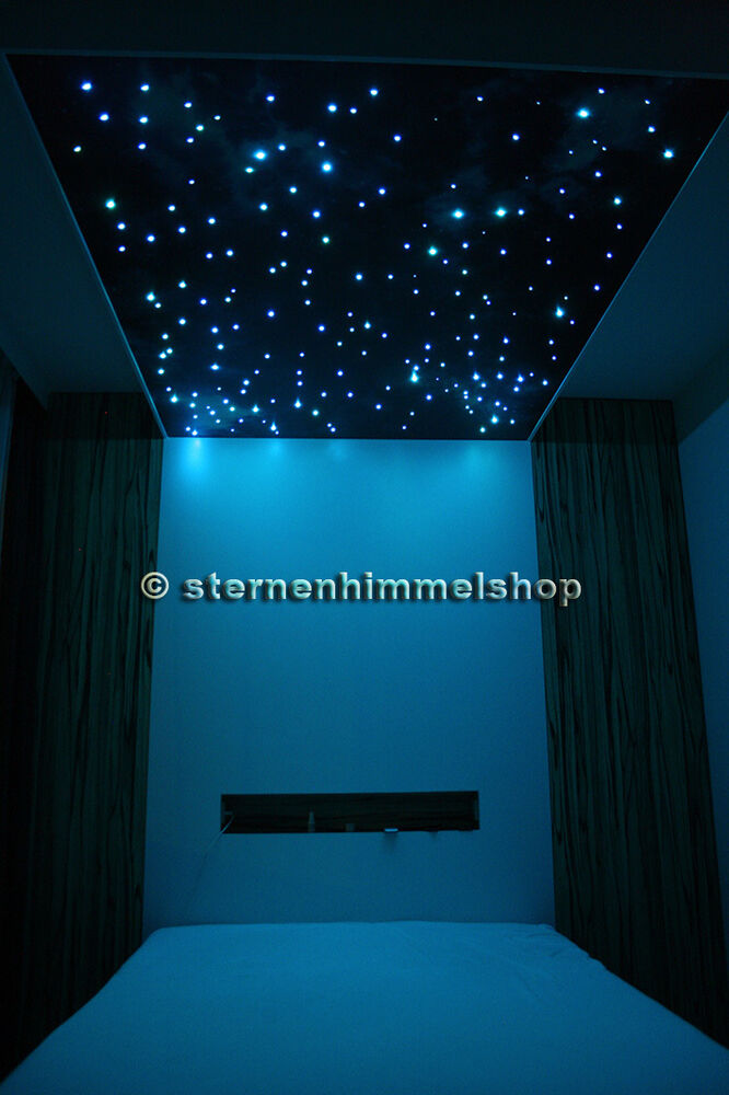 rgb led sternenhimmel 5 w lichtfasern glasfaser optik viele auswahlm glichkeiten ebay. Black Bedroom Furniture Sets. Home Design Ideas