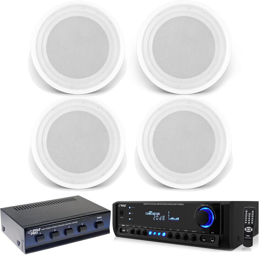 In Ceiling 8 Quot 150w Speakers Usb Bluetooth Pyle Home