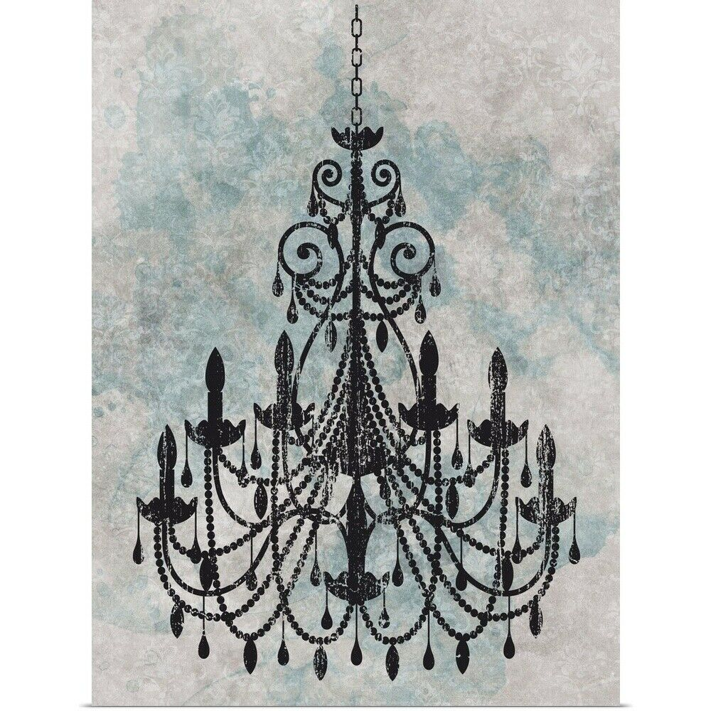 Poster Print Wall Art Entitled Chandelier With A Splash Of