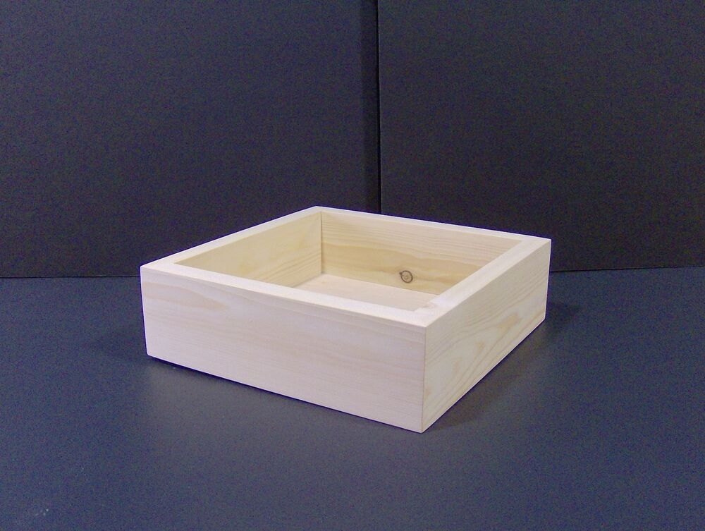 9 x 9 x 3 custom handmade craft box unfinished for Unfinished wooden boxes for crafts