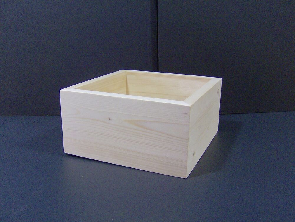 12 x 12 x 5 custom handmade craft box unfinished for Unfinished wooden boxes for crafts