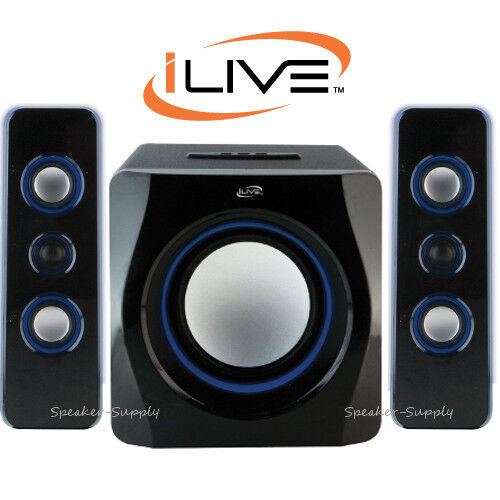 ilive cineblue bluetooth wireless 2 1 speaker system home. Black Bedroom Furniture Sets. Home Design Ideas
