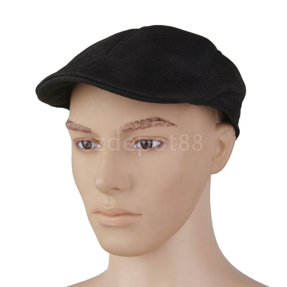 black mens womens newsboy cabbie gatsby duckbill cap beret