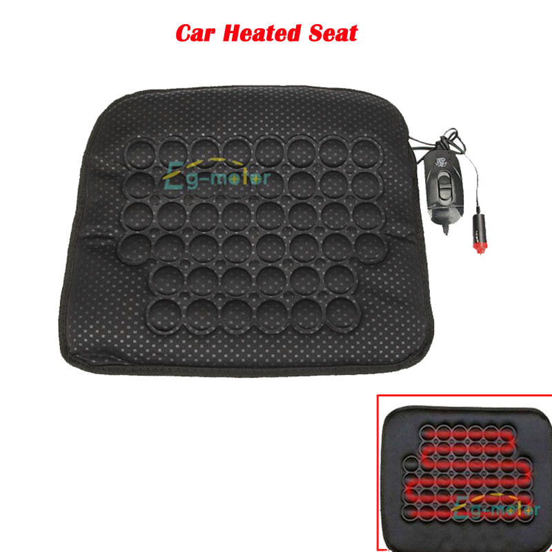 12v car seat heated heater cushion cover warmer pad mat quick warming suv heat ebay. Black Bedroom Furniture Sets. Home Design Ideas