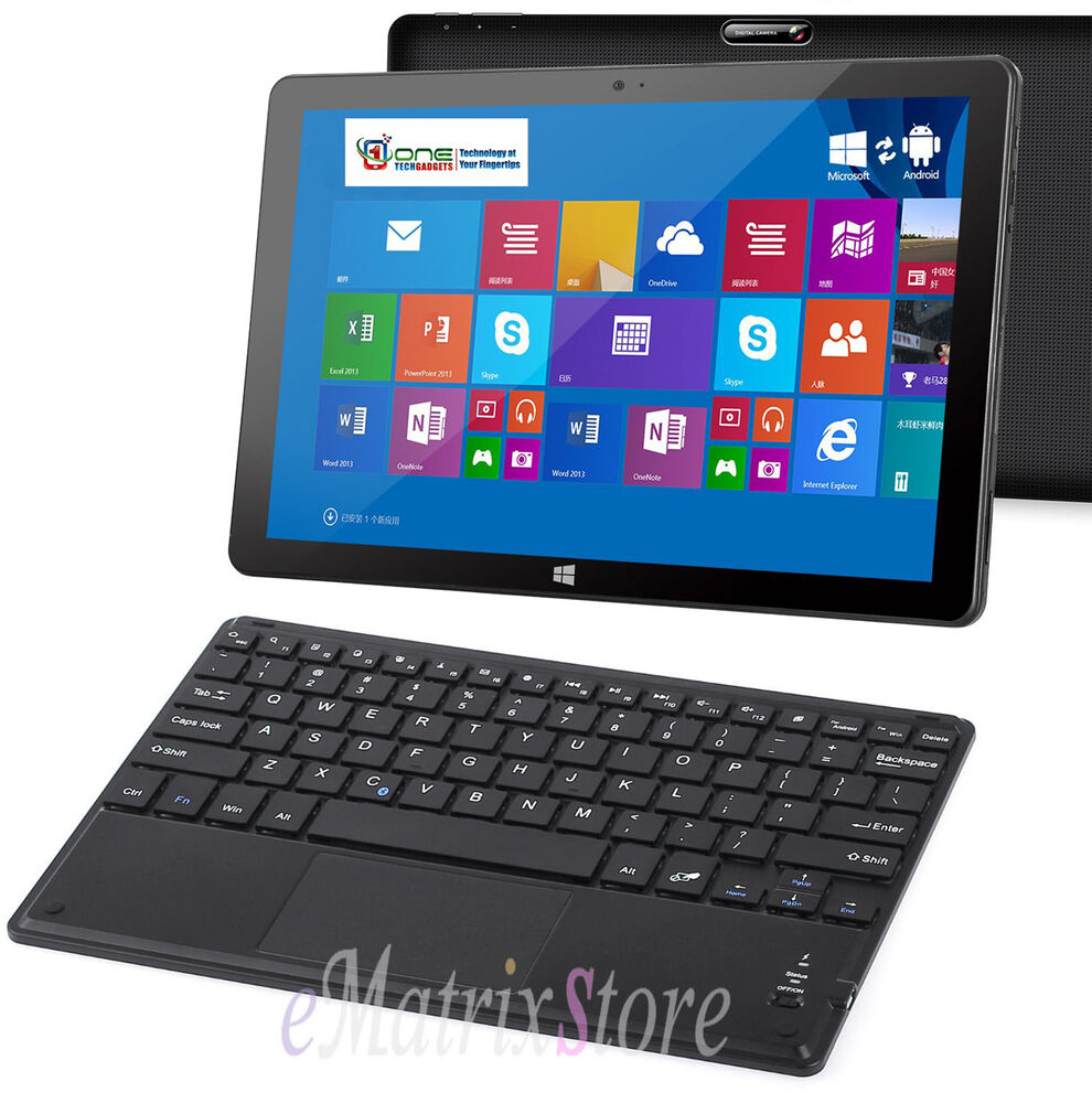 """10"""" Bluetooth Wireless Keyboard Inc Touchpad Mouse For Android Tablet Windows 10"""