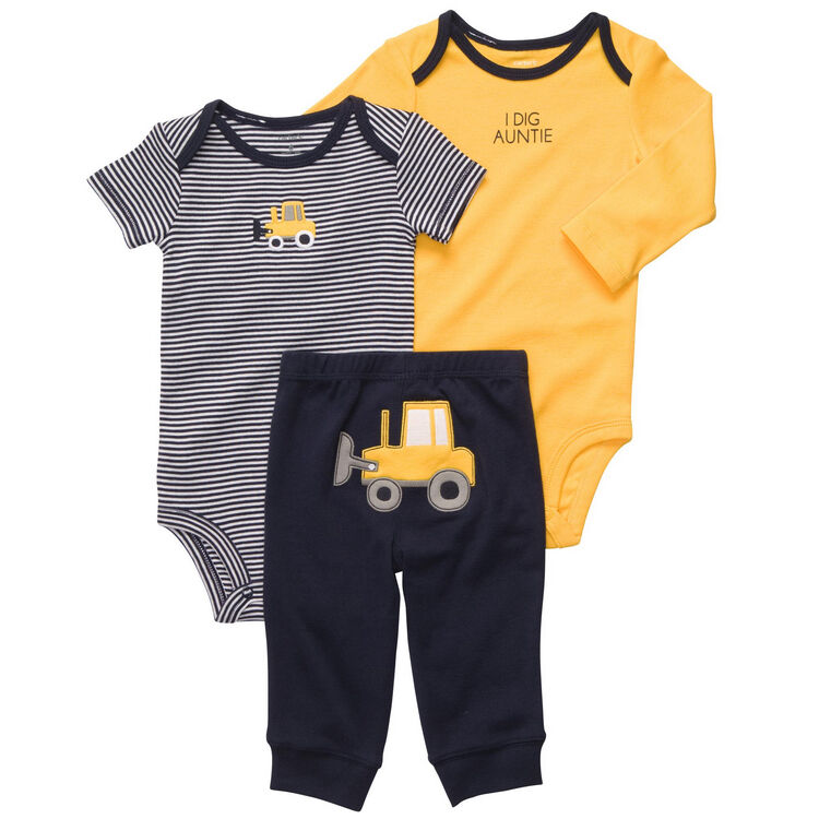 New NWT Carters Baby Boys 3 Piece Bodysuit Pant Set