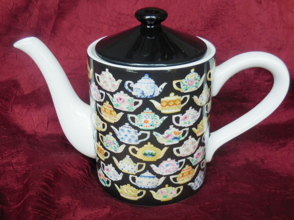 Department 56 Tea Leaves Porcelain Teapot With Teapot