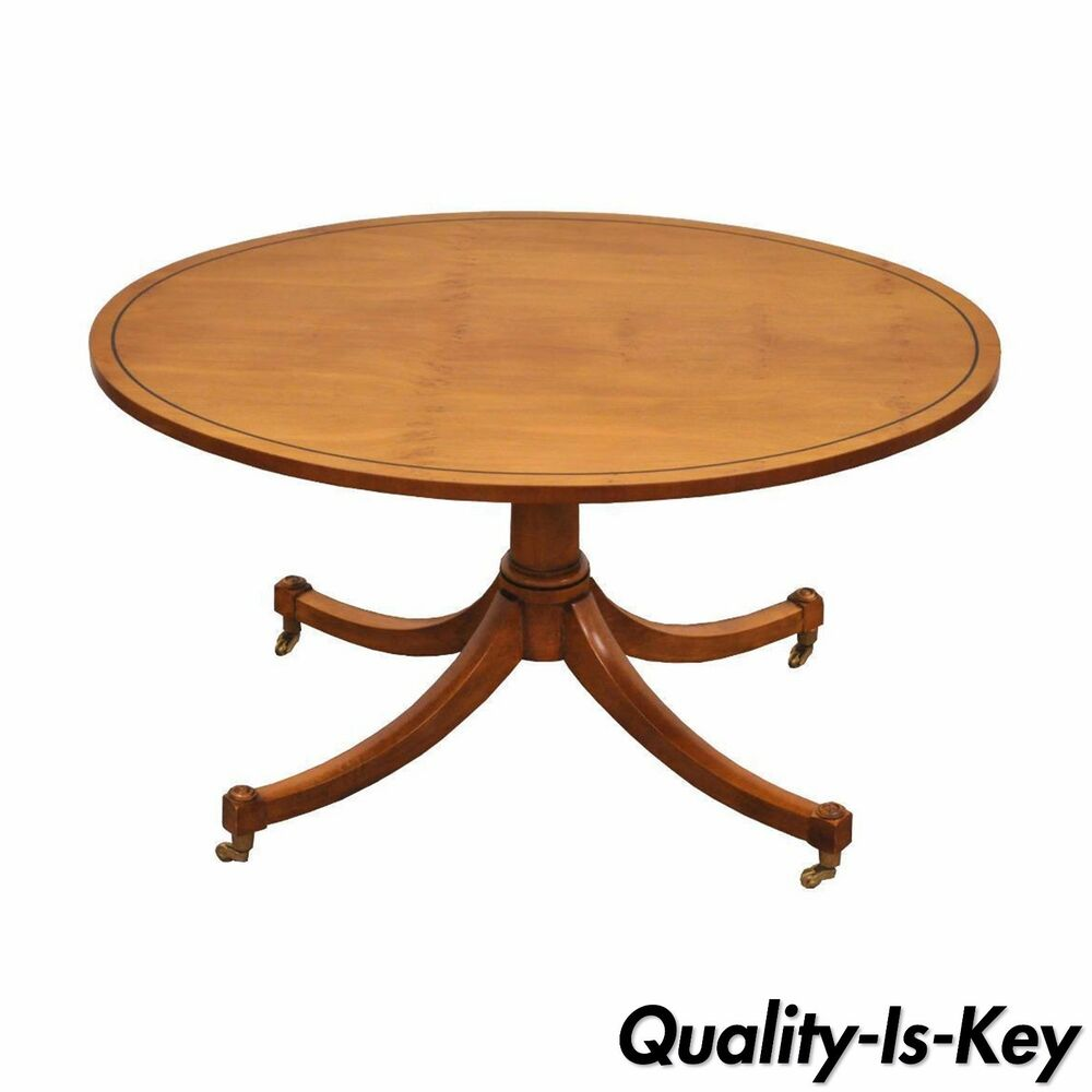 Oval Coffee Table Antique: Vintage Duncan Phyfe Baker Furniture Oval Maple Accent