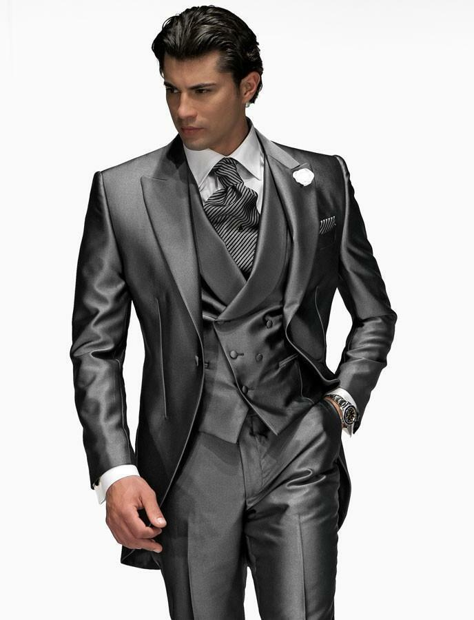 Custom Made Men Wedding Suits Groom Tuxedos Formal Best Man Suit ...