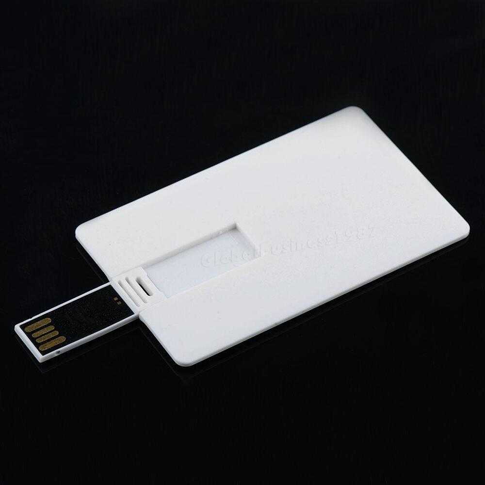 64gb credit card usb 2 0 flash drive blank diy memory stick wholesale bulk gbng ebay. Black Bedroom Furniture Sets. Home Design Ideas