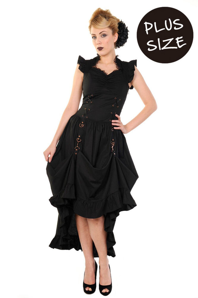 banned apparel black party dress long gothic victorian