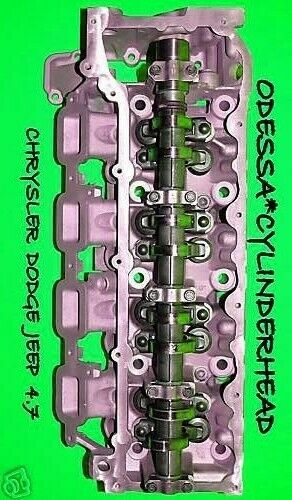 chrysler dodge jeep cherokee dakota 4 7 ho sohc cylinder head right side rebuilt ebay. Black Bedroom Furniture Sets. Home Design Ideas