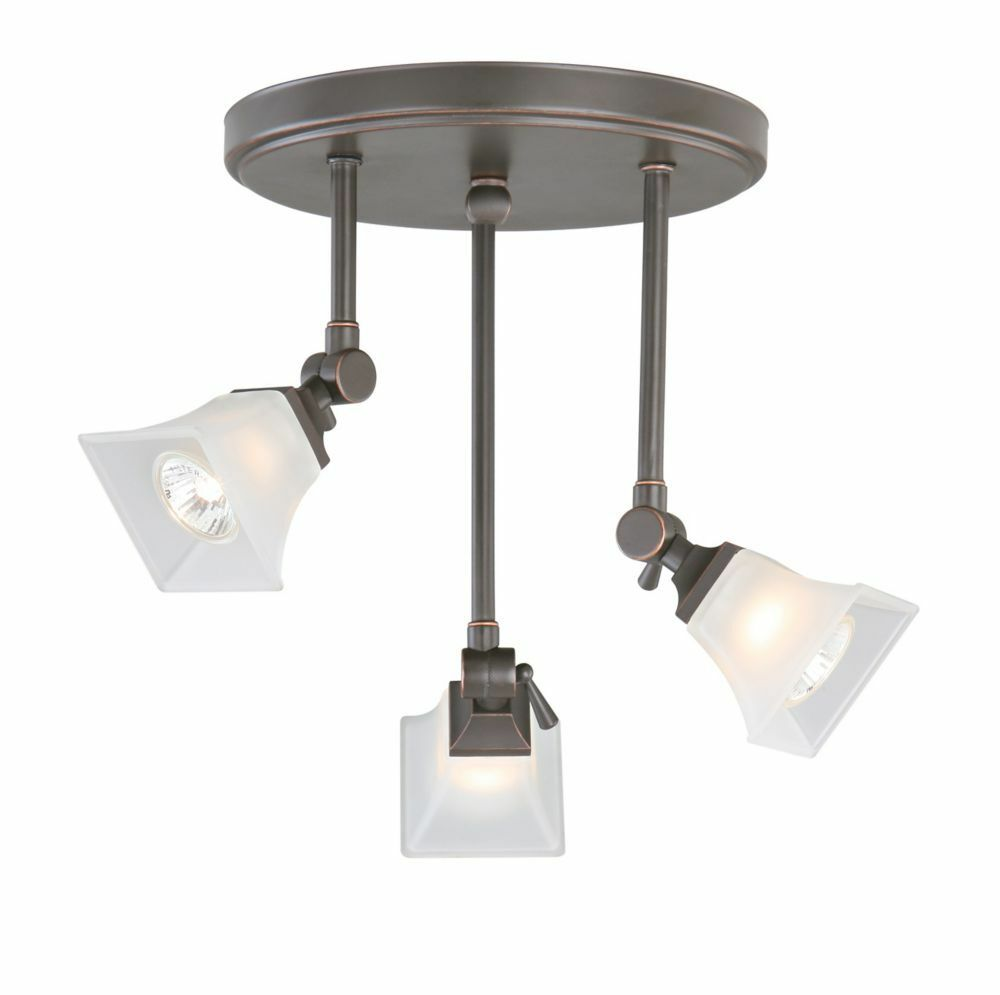 Hampton Bay Ceiling Light Fixtures: Hampton Bay Westminster Bronze Track Canopy Wall Ceiling