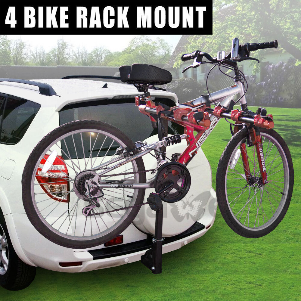 Brand new 4 bike rack hitch car trunk van carrier mount for Is a bicycle considered a motor vehicle