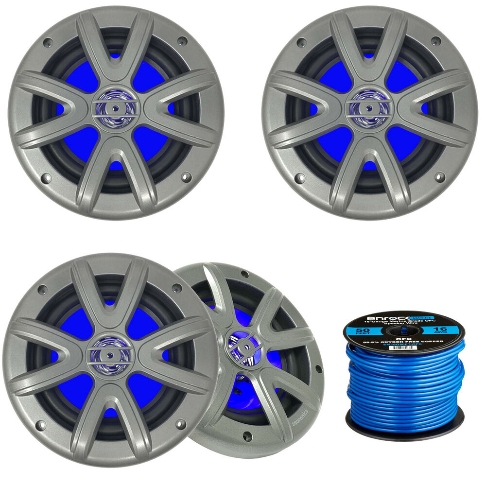 Wire For Speaker Systems : Jbl marine quot w white speakers cadence blue