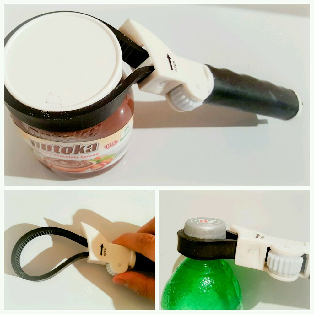 New Multipurpose Power Grip Jar Amp Bottle Opener Adjustable