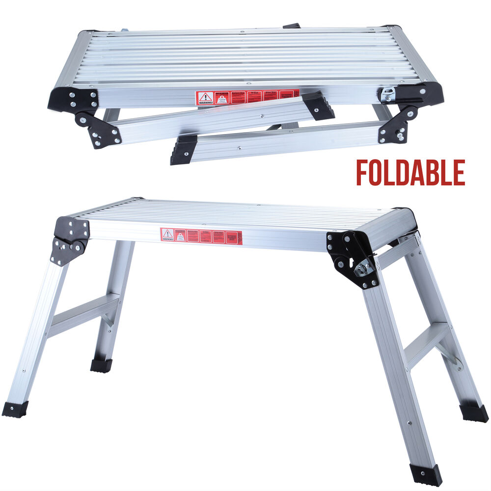 Drywall Step Up Folding Bench Stool Ladder Platform
