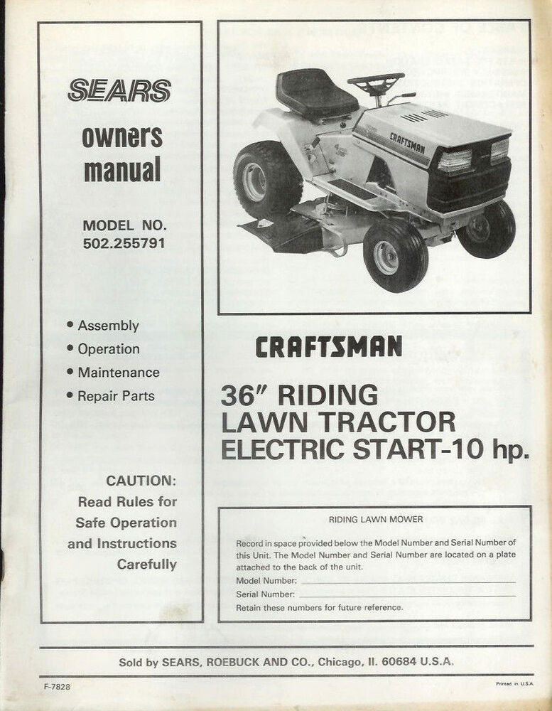 Craftsman Riding lawn tractor Manuals