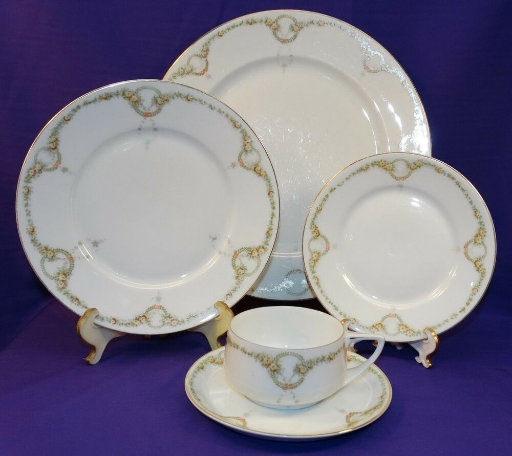 antique 5 pc place setting rosenthal bone china donatello briar rose dinnerware ebay. Black Bedroom Furniture Sets. Home Design Ideas