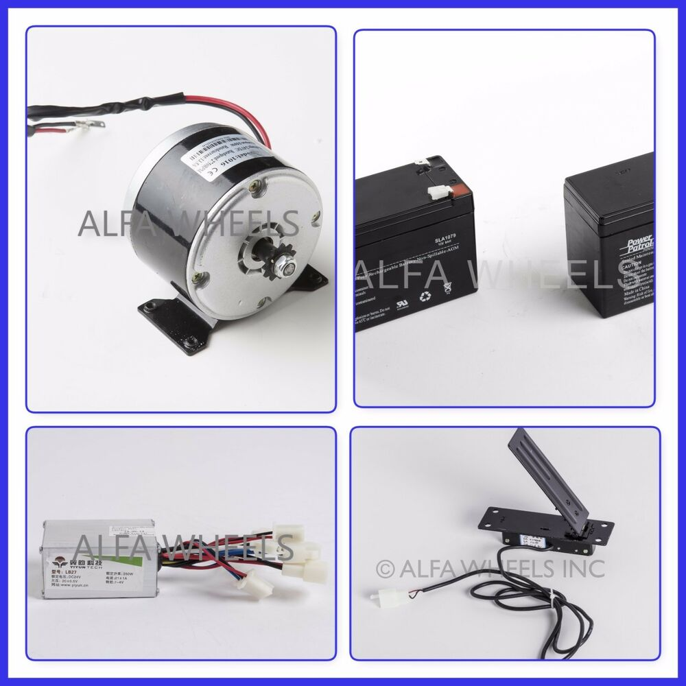 24 volt electric motor kit w batteries speed control box for Electric motor control box