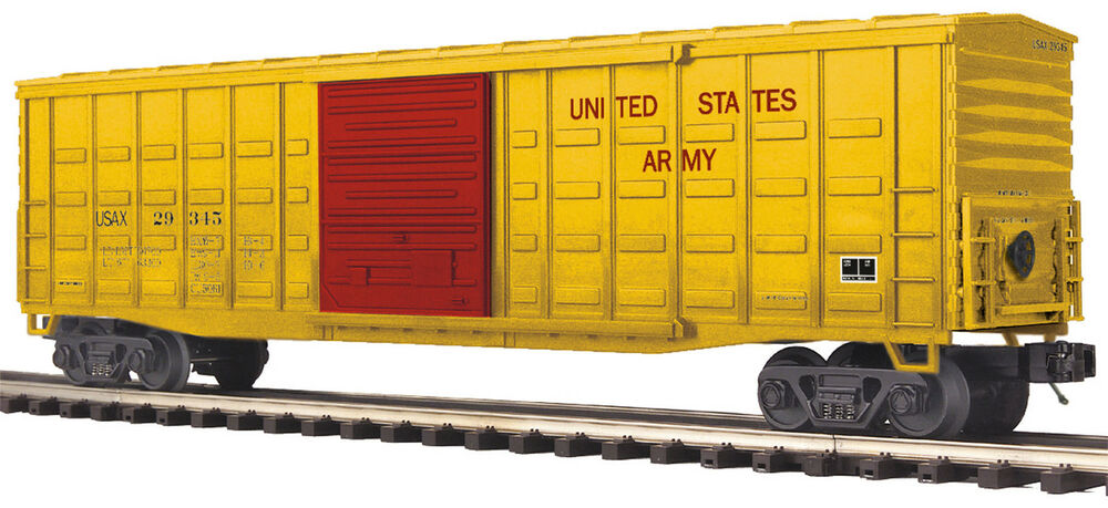 Mth premier o trains 29352 us army 50 39 waffle box car 20 for Mercer available loads
