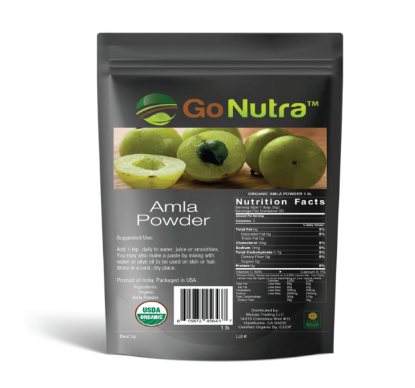 1 lb Organic Amla Powder Pure 100% Amalaki - Indian Gooseberry - Free Shipping