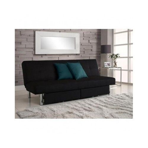 Convertible Futon Couch Sofa Bed Sleeper Microfiber Living Room Furniture Bla