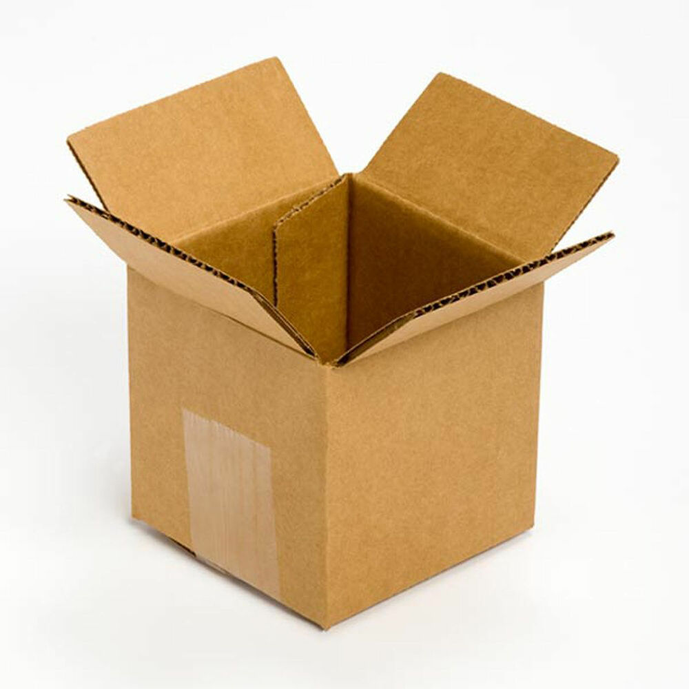 new cardboard delivery boxes 25 pack 4x4x4 for packing. Black Bedroom Furniture Sets. Home Design Ideas