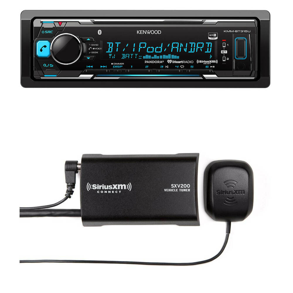 kenwood car bluetooth usb aux am fm receiver sirius. Black Bedroom Furniture Sets. Home Design Ideas