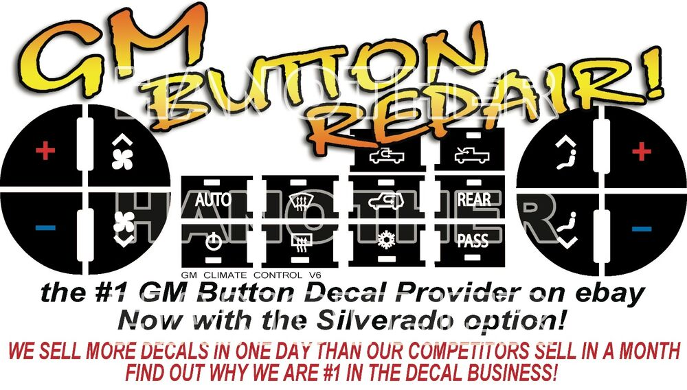 2007-2008 Chevrolet Dash Buttons Repair Decals AC Climate Control   eBay